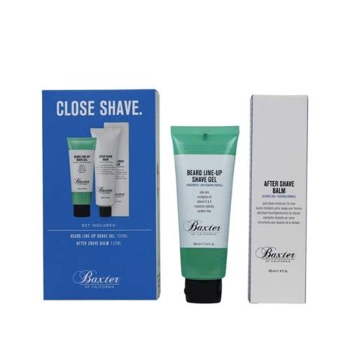 Baxter of California Close Shave Grooming Kit (Beard Line Shave Gel 100ml & After Shave Balm 120ml)